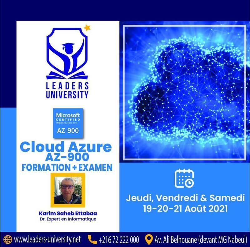 Formation gratuite et examen Cloud-Azure AZ-900 à Leaders University