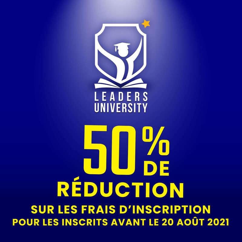 50% de réduction sur les frais d'inscription